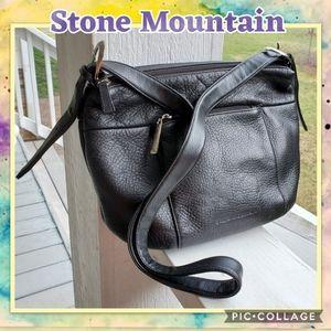 Genuine Black Leather Crossbody/Shoulder Bag
